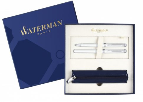 Waterman HEMISPHERE WHITE ezüst klipsz töltőtoll + golyóstoll XMAS13