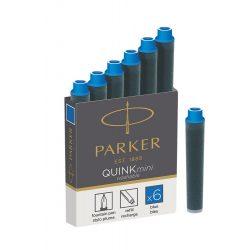 5 db Parker Royal Tintapatron Rövid Kék