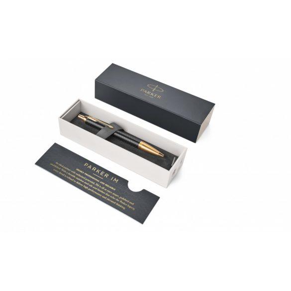 Parker Royal Im Premium Golyóstoll Fekete Cizellált, Arany Klipsz